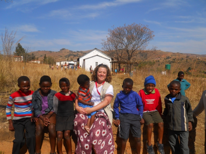 Me and some of the beautiful children of Swaziland.